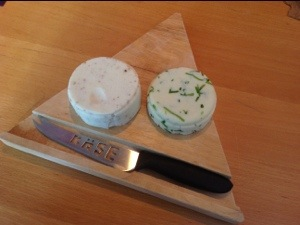 Mustard Seed Cheese and Chive Cheese